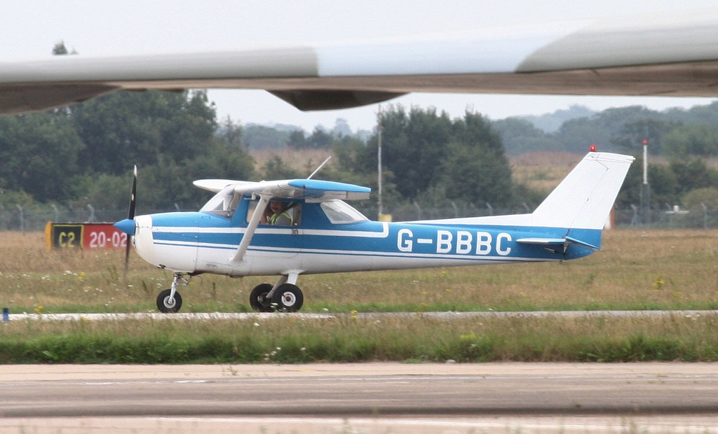 Reims Cessna F150, G-BBBC<br /> By Jim Calow.