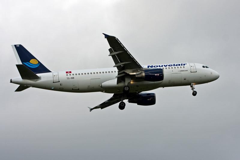 Nouvelair A320 TS-INB.<br /> By David Bladen.