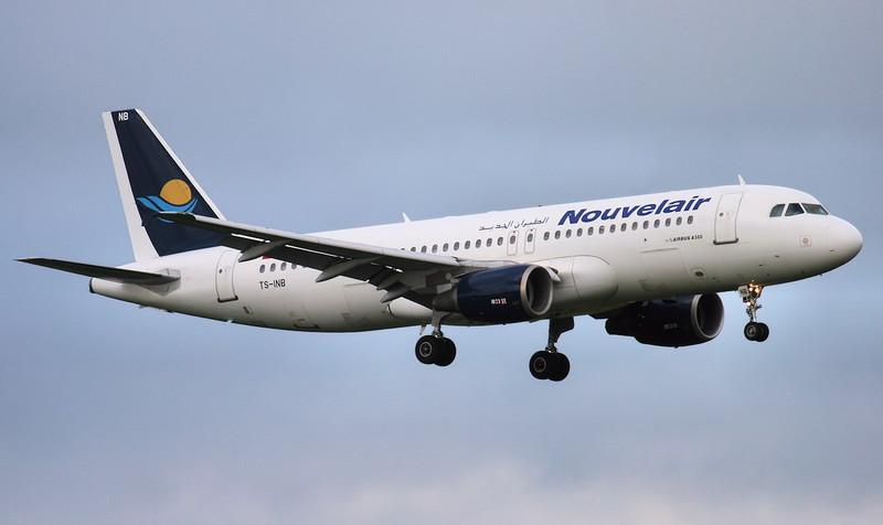Nouvelair A320 TS-INB.<br /> By Jim Calow.
