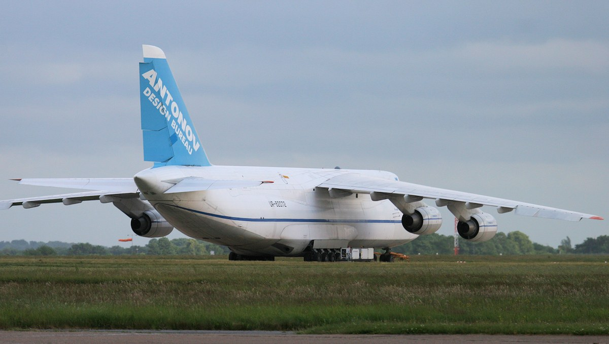 This evening parked on stand 8A...........Antonov Design Bureau An124-100, UR-82072<br /> By Jim Calow.