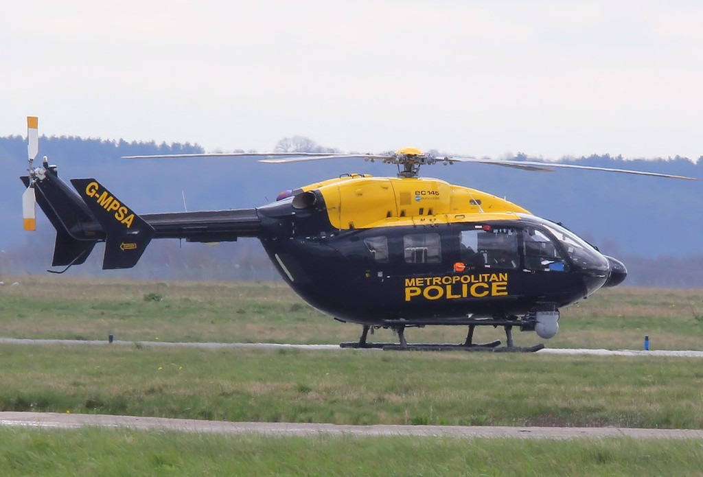 Metropolitan Police Air Support Unit, Eurocopter EC145, G-MPSA<br /> By Correne Calow.