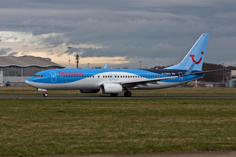 Thomson Airways B737-800,  G-TAWO<br /> By David Bladen.