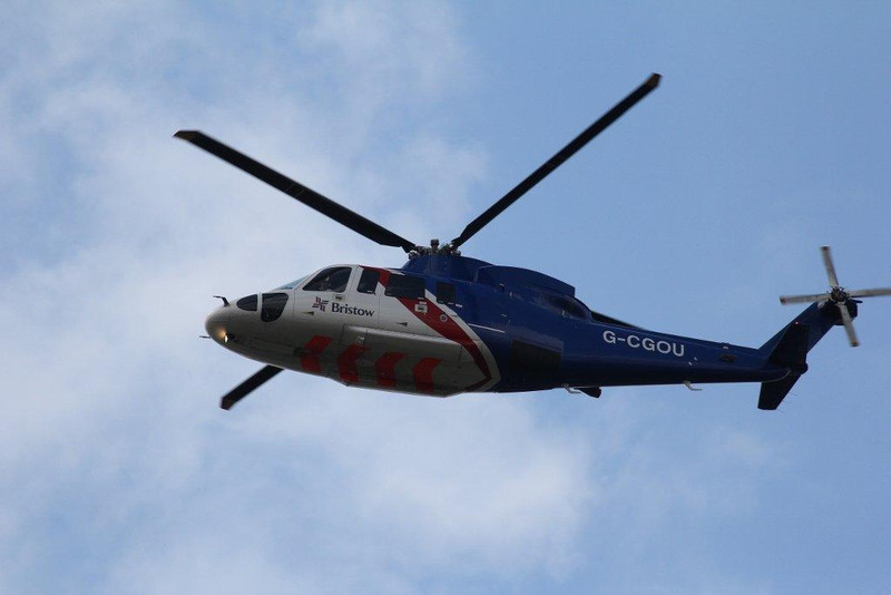 Bristow Helicopters Ltd, S-76C, G-CGOU.<br /> By Steve Roper.