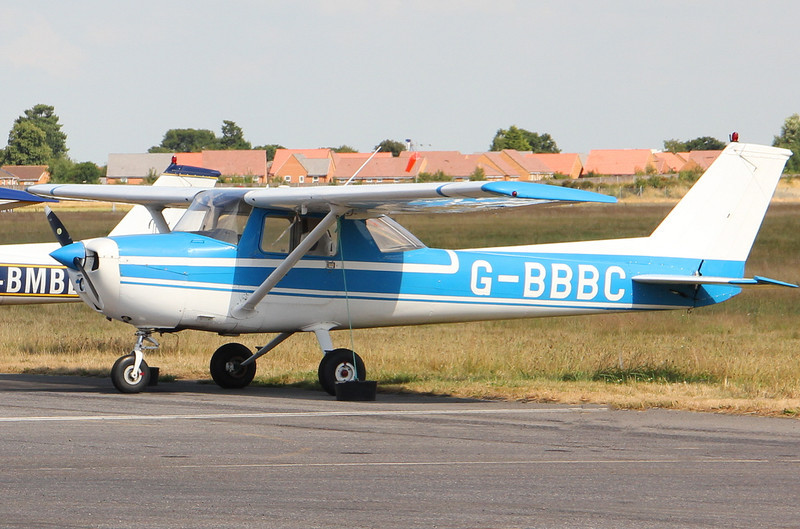 Reims Cessna F150L, G-BBBC<br /> By Clive Featherstone.