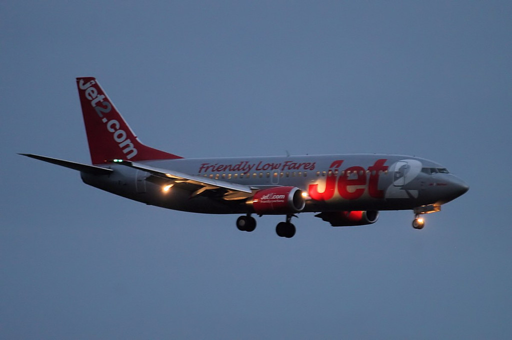 A diversion from Leeds.......Jet2 737-800 G-CELE on finals for rnwy 20 this evening.<br /> By Jim Calow.
