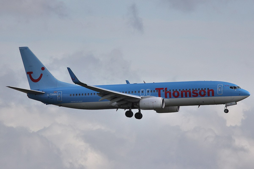 Thomson Airways 737-800, G-TAWA<br /> By Correne Calow.