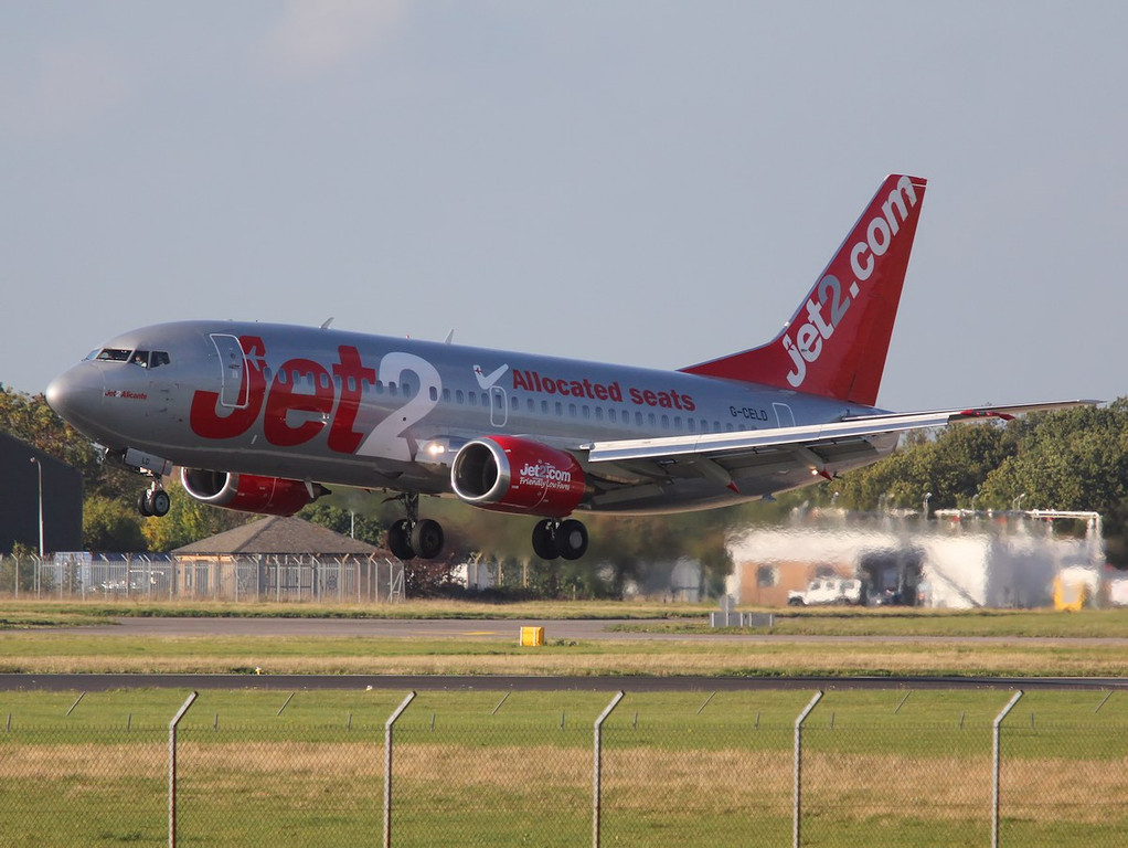 Jet2 737-300, G-CELD arrived mid after for training<br /> By Correne Calow.