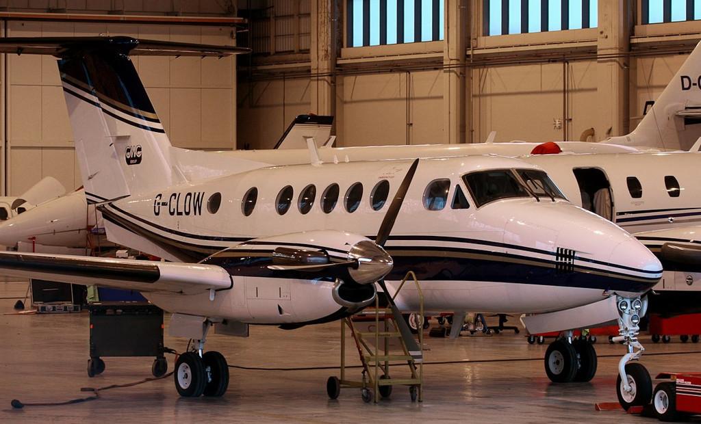 Beech B200 Super King Air, G-CLOW..<br /> By Jim Calow.