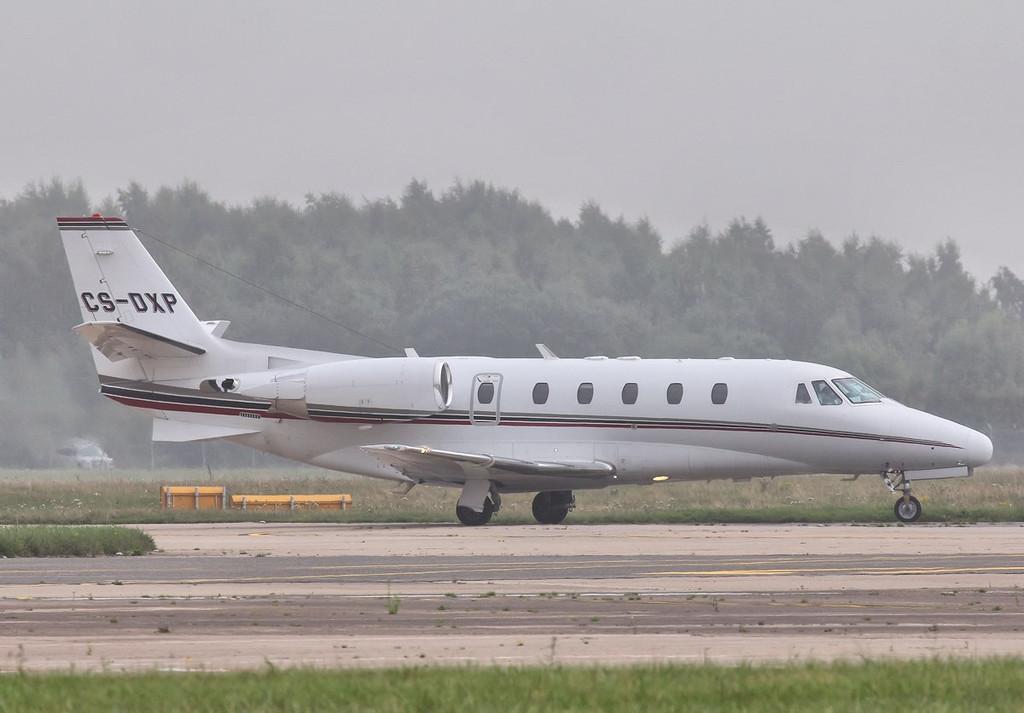 Netjets Cessna 560XLS Citation Excel, CS-DXP arrived early afternoon.<br /> By Steve Roper.