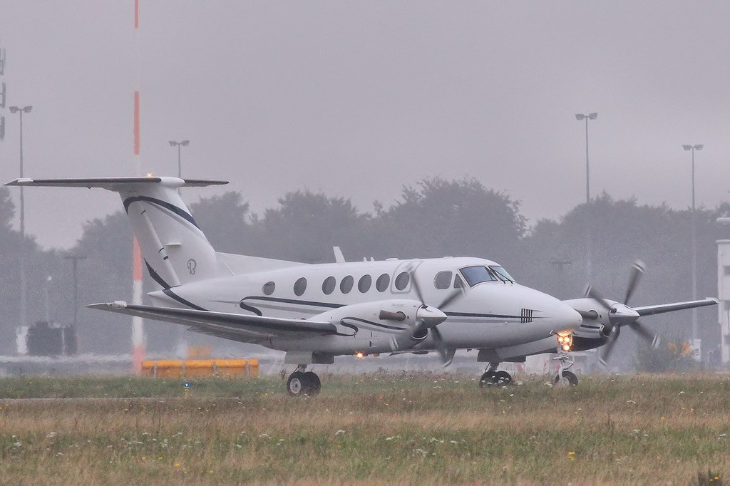 Beech B200 Super King Air, G-IASA departed early afternoon following maintenance.<br /> By Steve Roper.