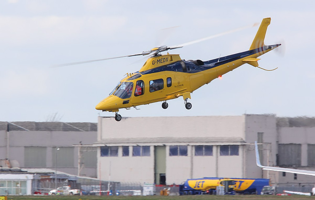 Sloane Helicopters (Air Ambulance) Augusta A109E, G-MEDX<br /> By Correne Calow.