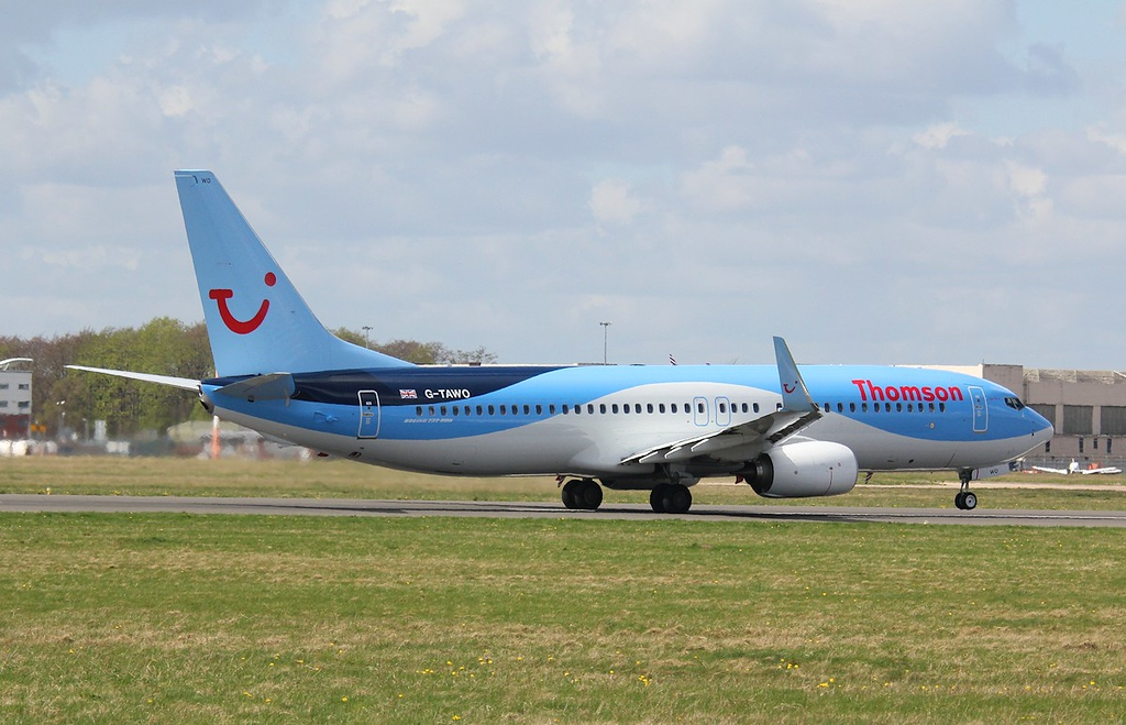 Thomson Airways B737-800, G-TAWO<br /> By Correne Calow.