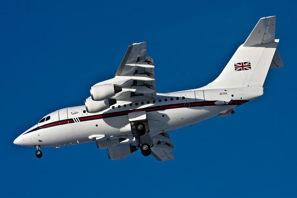 RAF BAe 146 CC2, ZE701.<br /> By David Bladen.