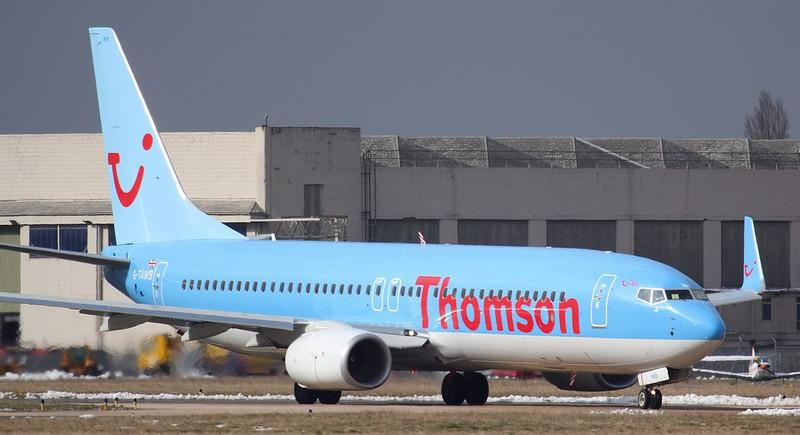 Thomson Airways 737-800 G-TAWB.<br /> By Jim Calow.
