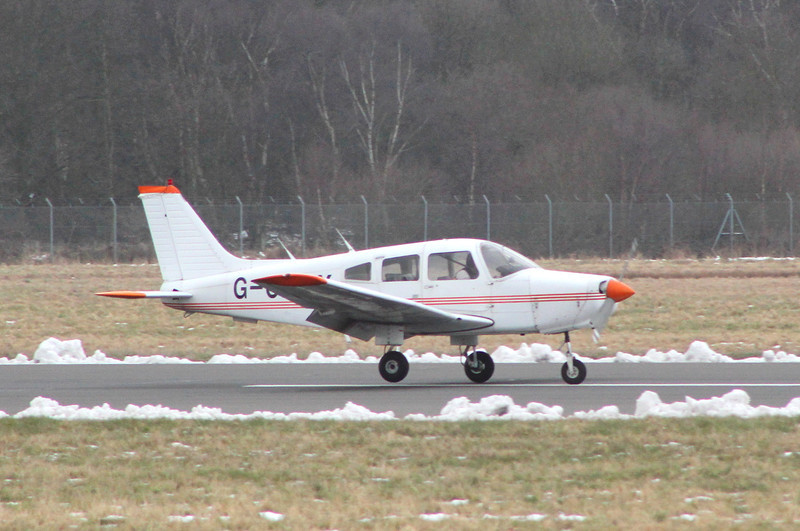 Resident PA-28-161 Warrior II, G-CDMX was out and about.<br /> By Jim Calow.