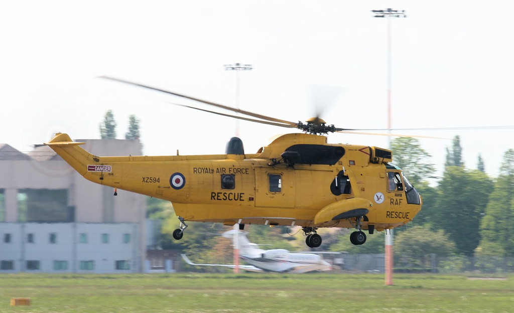 'Rescue 128' departs for Leconfield.<br /> By Jim Calow.