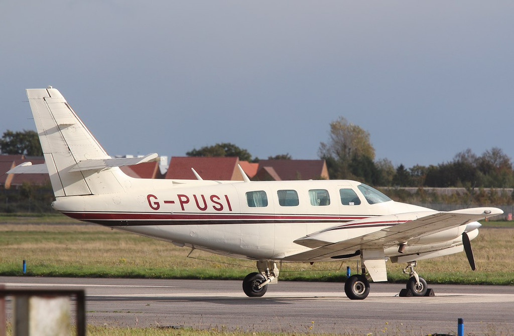 Cessna T303 Crusader, G-PUSI<br /> By Correne Calow.