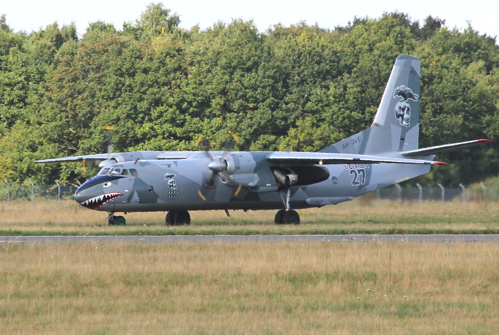 Air Bright Antonov An-26, LZ-ABR.<br /> By Clive Featherstone.
