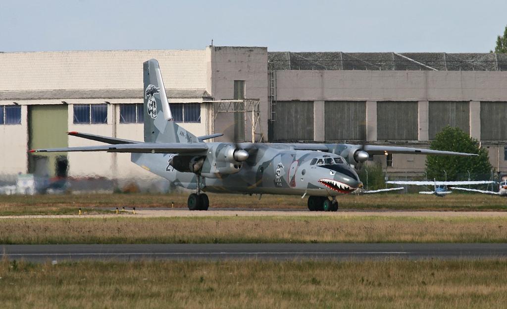Air Bright Antonov An-26, LZ-ABR.<br /> By Jim Calow.