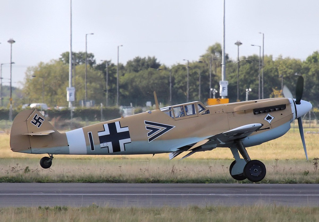 Hispano HA.1112-M1L Buchon G-AWHE.<br /> By Steve Roper.