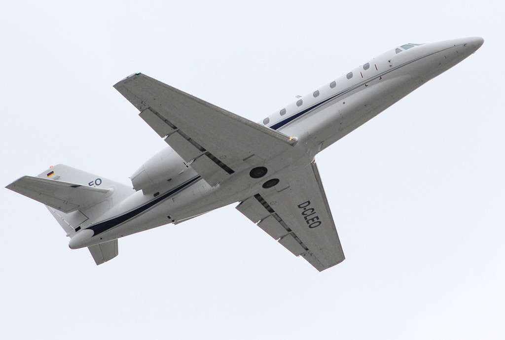 Air X Cessna 680 Citation Sovereign, D-CLEO<br /> By Clive Featherstone.