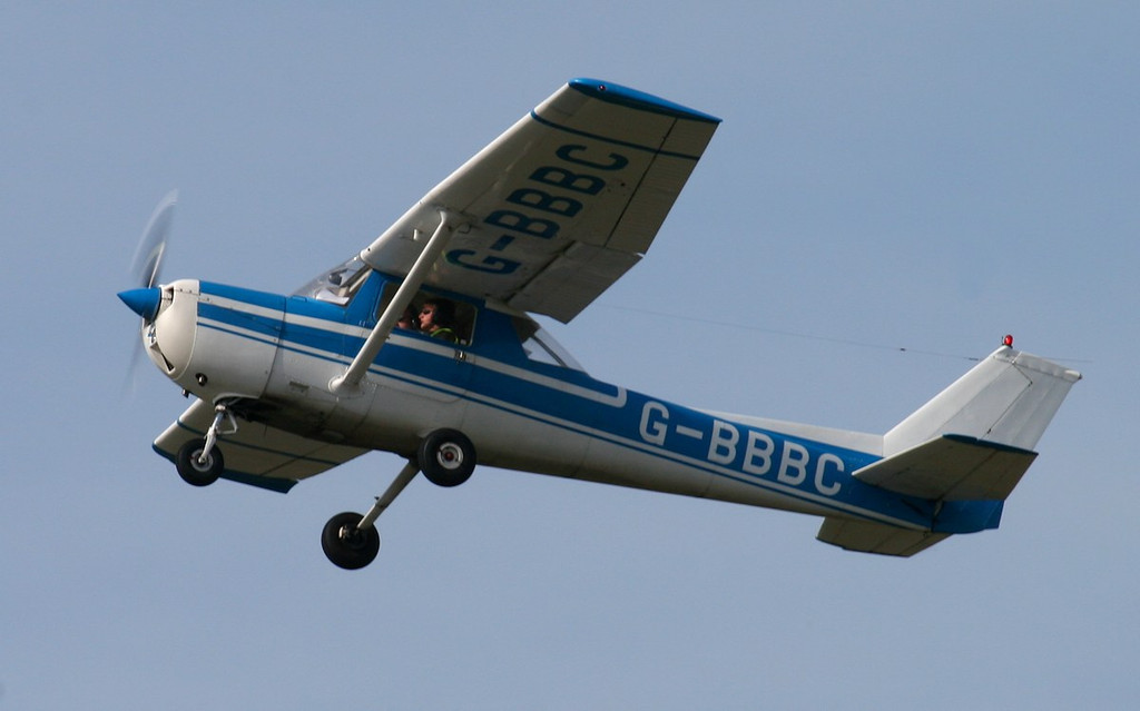 Doncaster Flying School, Reims Cessna F150L, G-BBBC.<br /> By Jim Calow.