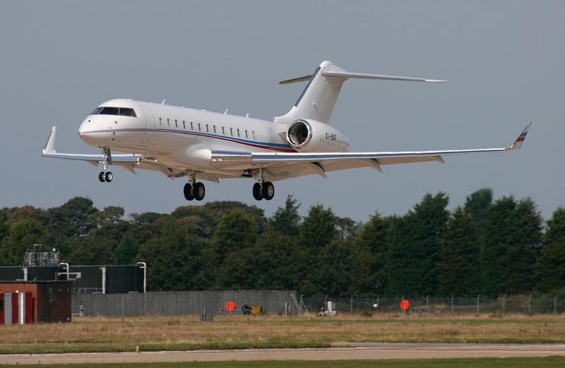 Bombardier Global 6000, EI-SSF<br /> By Jim Calow.