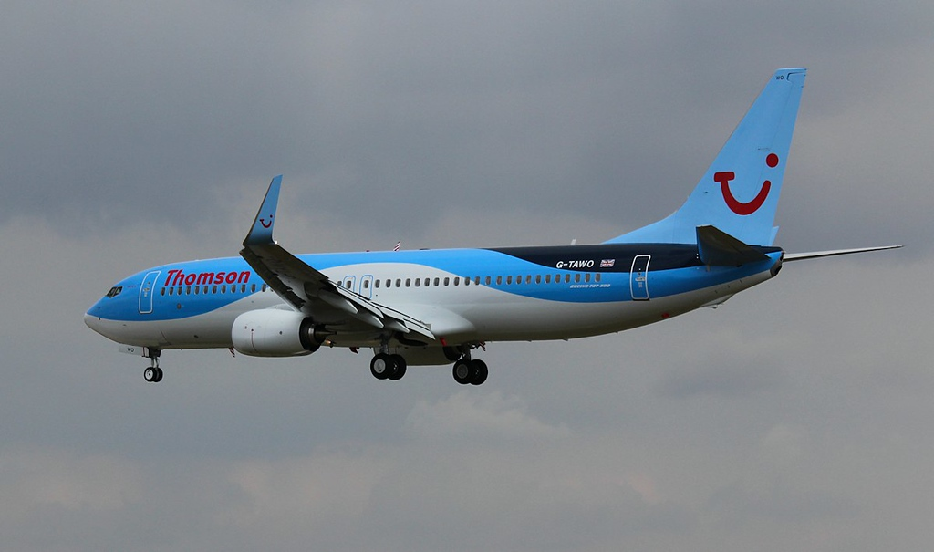 Thomson Airways  737-800, G-TAWO on it's 2nd approach to runway 02<br /> By Correne Calow.