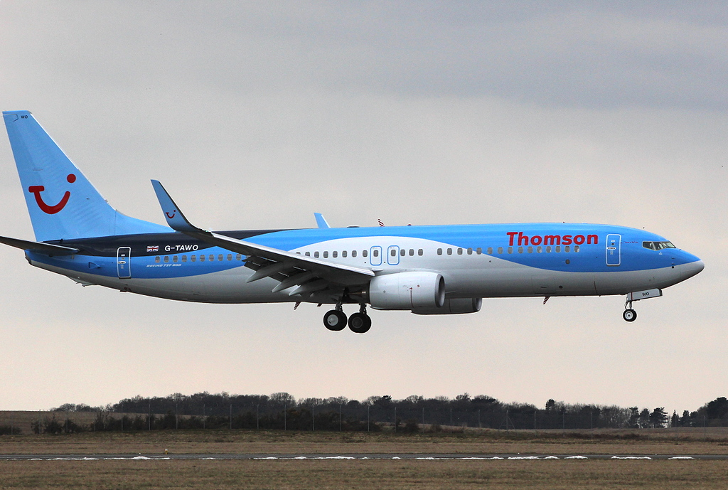 Thomson Airways  737-800, G-TAWO<br /> By Clive Featherstone.