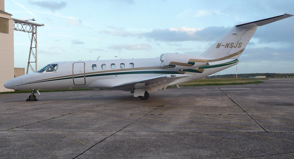 Cessna 525C CitationJet CJ4, M-NSJS<br /> By Correne Calow.