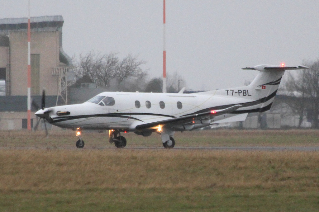 Fly 7 Executive Aviation, Pilatus PC-12, T7-PBL<br /> By Clive Featherstone.