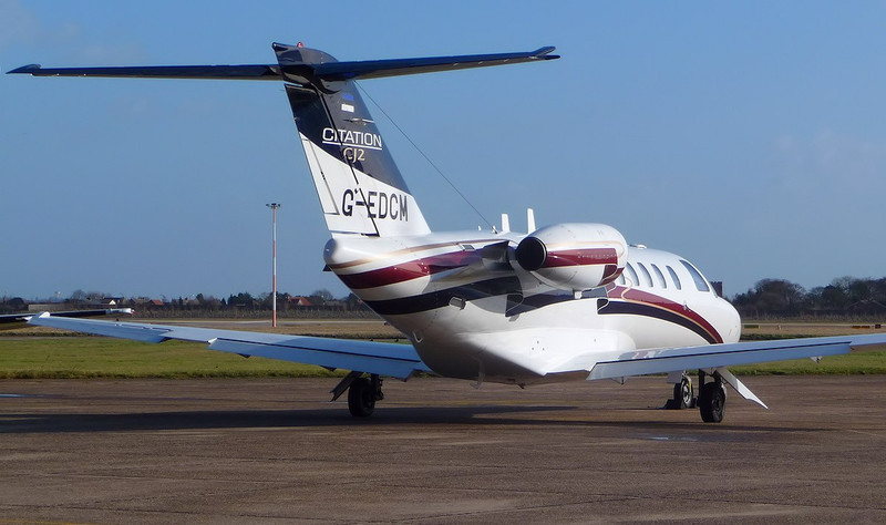 Air Charter Scotland Cessna 525A CitationJet CJ2,  G-EDCM<br /> By Correne Calow.