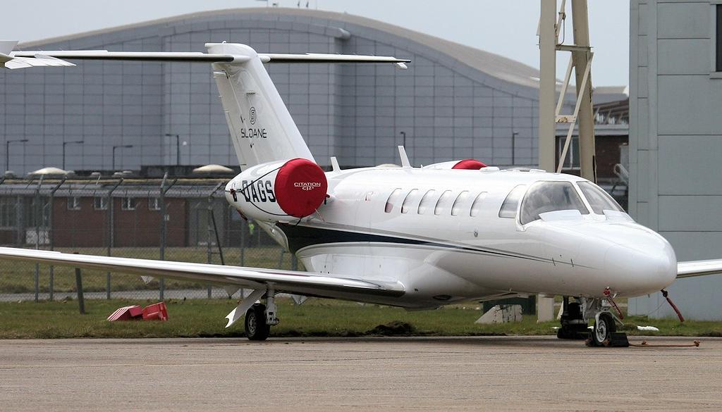 Air Charter Scotland, Cessna 525A CitationJet CJ2+ G-DAGS.<br /> By Jim Calow