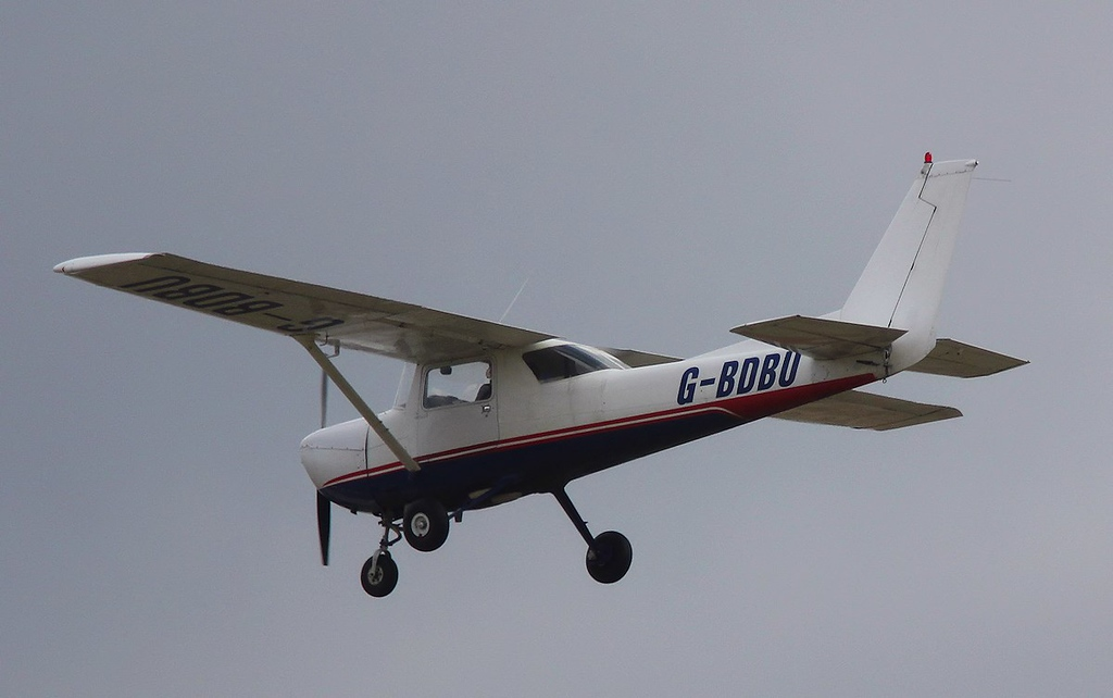 Doncaster Flying Schools, Reims Cessna F150M, G-BDBU.<br /> By Correne Calow.
