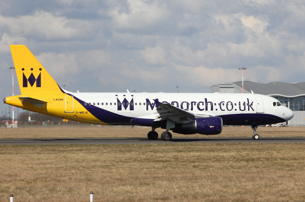 Monarch Airlines A320-214, G-MRJK<br /> By Clive Featherstone.