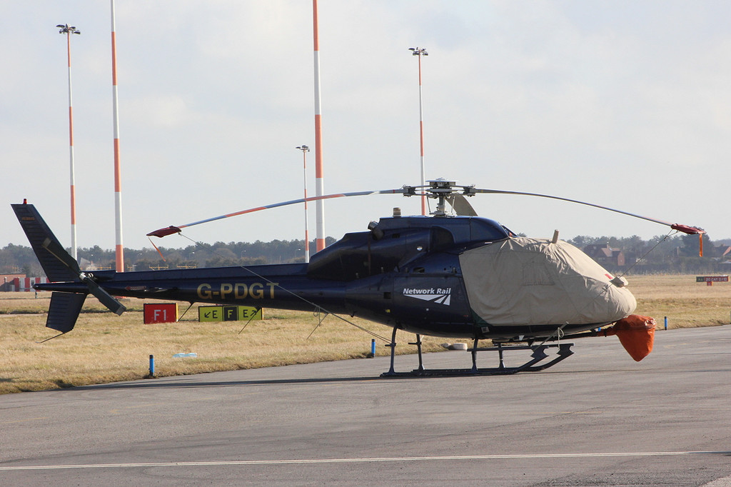 Network Rail (PDG Helicopters), AS355F2 Ecureuil II, G-PDGT<br /> By Clive Featherstone.