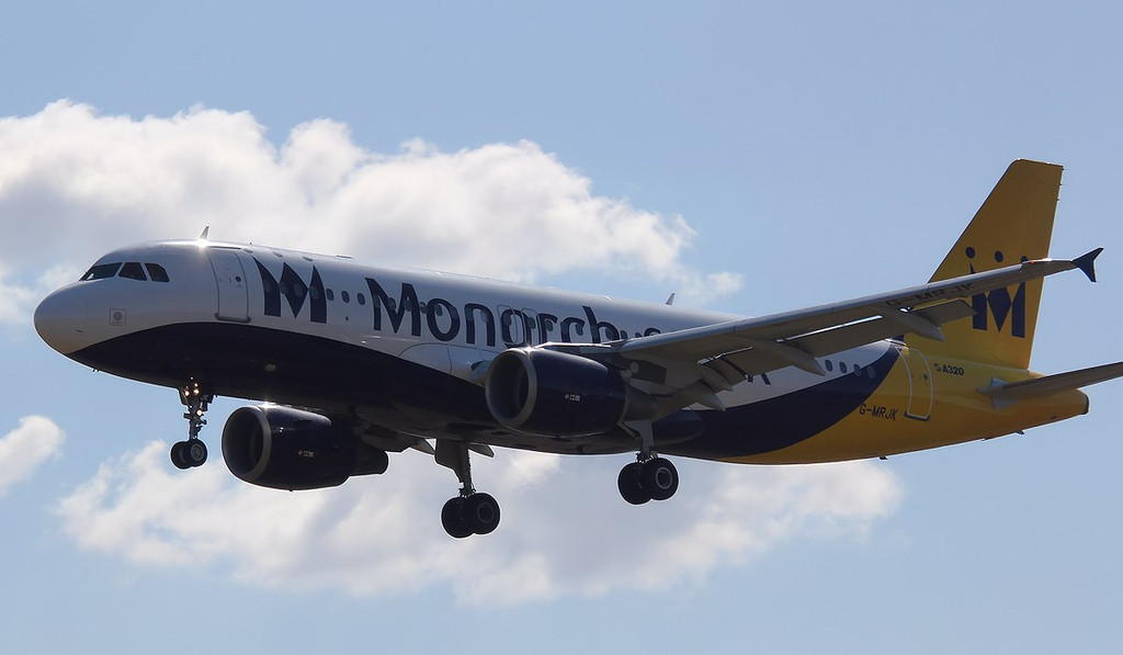 Monarch Airlines A320-214, G-MRJK<br /> By Correne Calow.