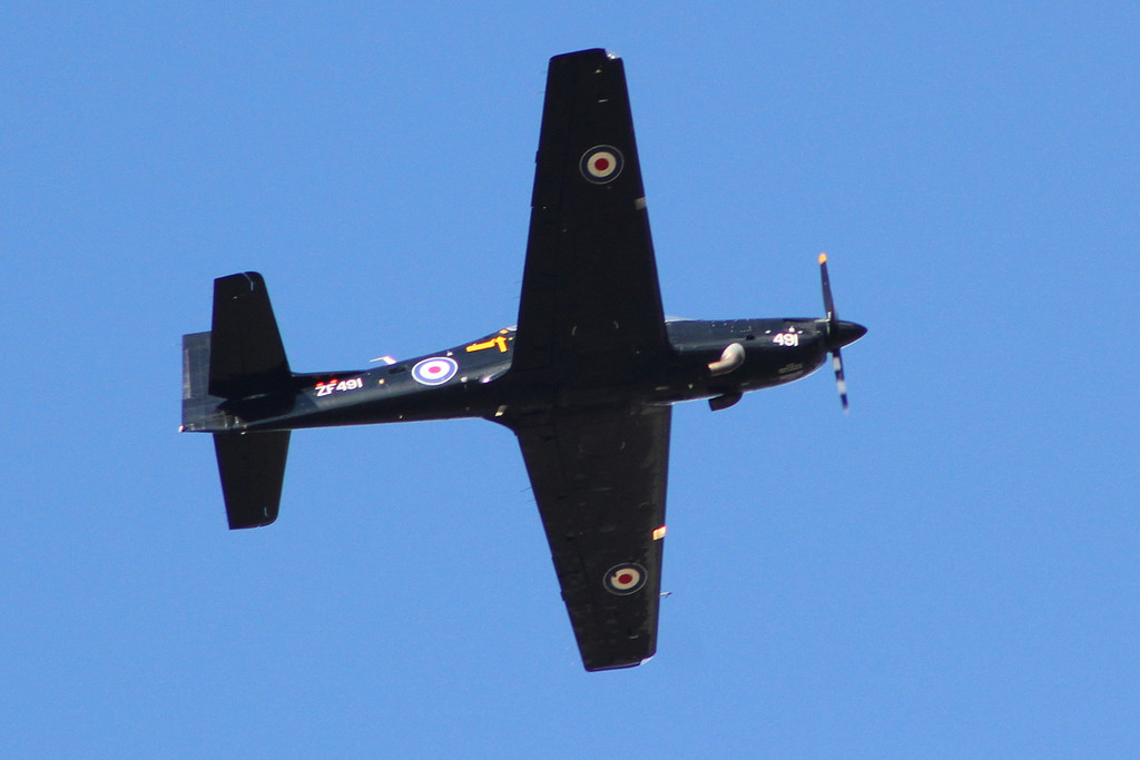 RAF Tucano T1, ZF491<br /> By Clive Featherstone.