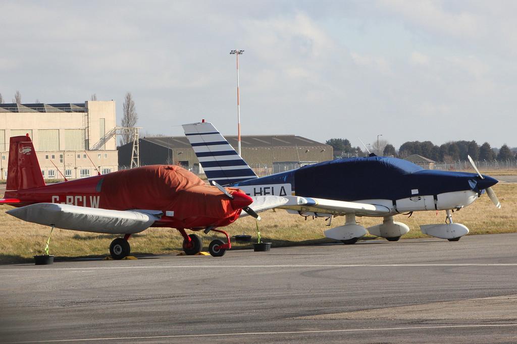 Grumman AA1, G-BCLW  and Socata TB-10 Tobago, G-HELA<br /> By Clive Feathertone.