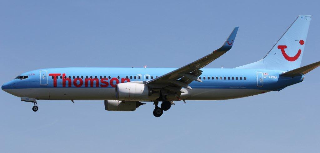 Thomson Airways 737-800, G-TAWA<br /> By Steve Roper.