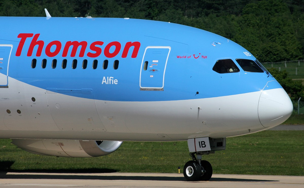 Thomson Airways 787-800, G-TUIB...............who is ALFIE ???<br /> By Jim Calow.
