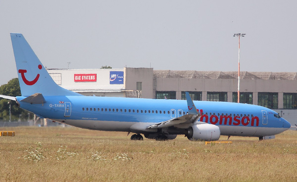 Thomson Airways 737-800, G-TAWA<br /> By Correne Calow.