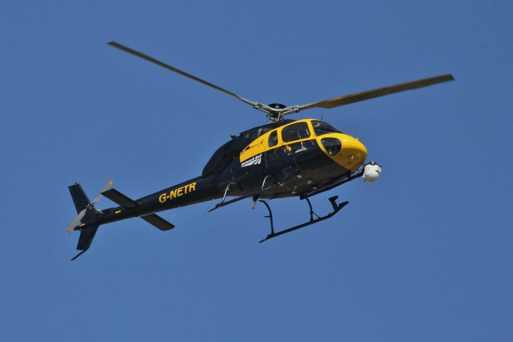 AS355F1 Ecureuil II, G-NETR (Network Rail)<br /> By Steve Roper.