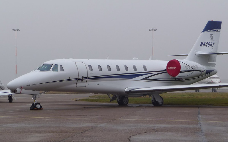 Cessna 680 Citation Sovereign, N448RT <br /> By Correne Calow.