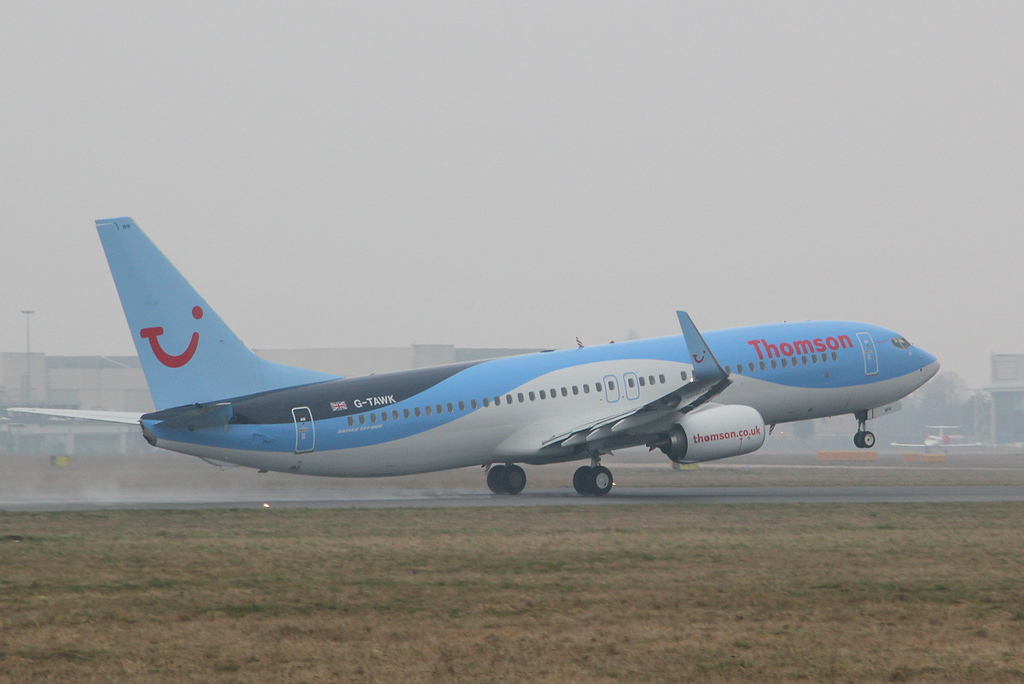 Thomson Airways 737-800 G-TAWK,<br /> By Clive Featherstone.