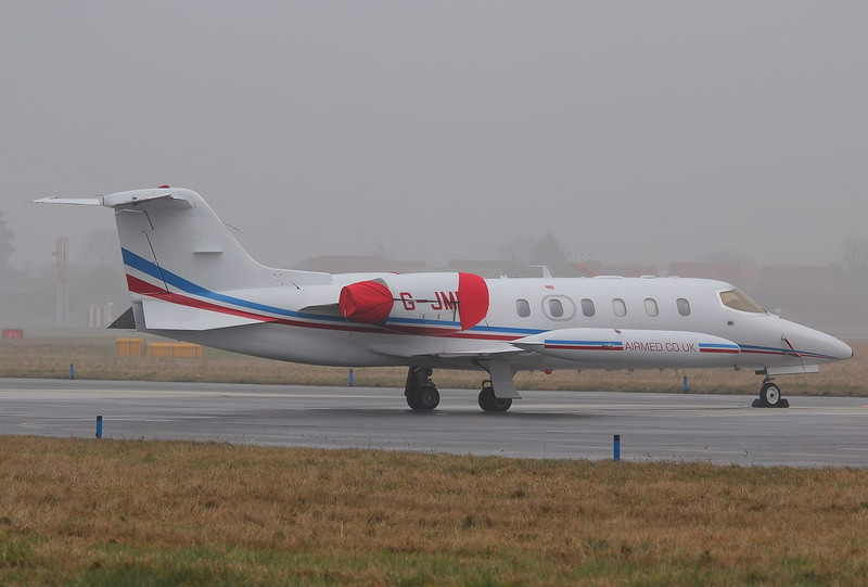Air Medical Fleet Learjet 35A, G-JMED<br /> By Correne Calow.