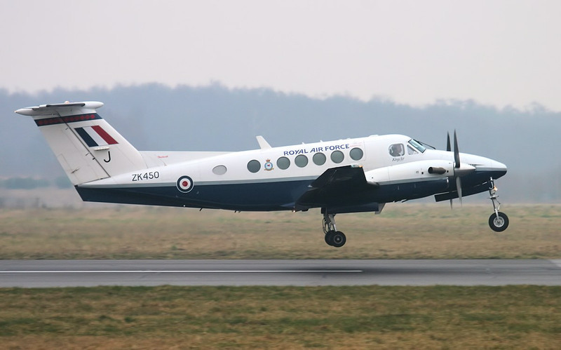Beech B200 Super King Air, ZK450 (J) gets airbourne after a Touch 'n' go.<br /> By Jim Calow.