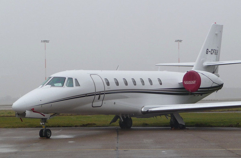 Cessna 680 Citation Sovereign, G-CFGB <br /> By Correne Calow.