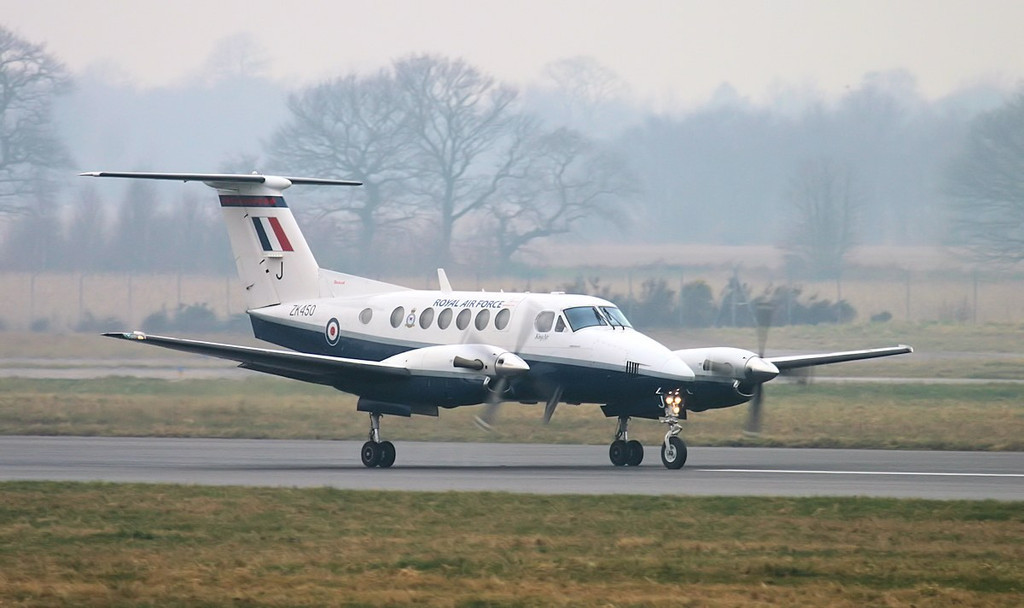 Not often we see one of these on the ground...........RAF Beech B200 Super King Air, ZK450(J).<br /> By Jim Calow