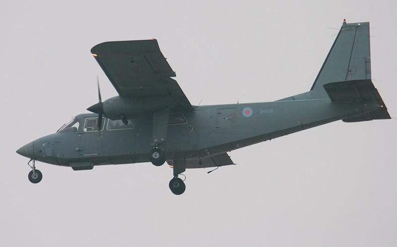 Britten-Norman Islander CC2, ZH536.<br /> By Jim Calow.